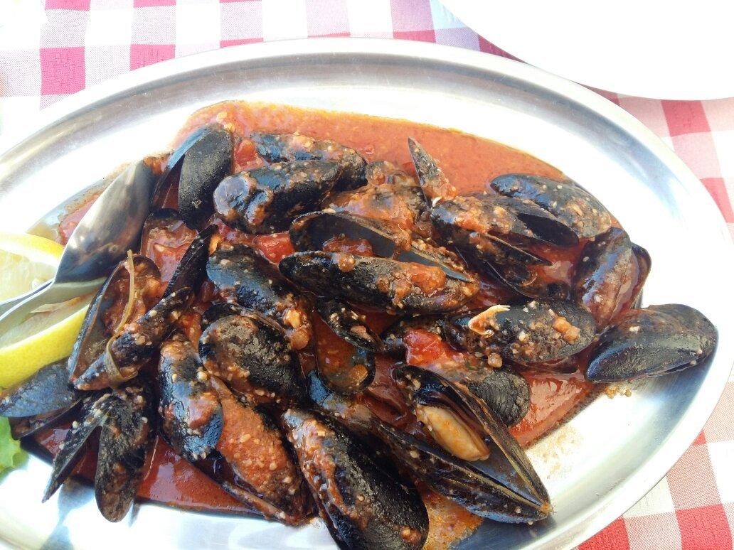 Muscheln und Meeresfrüchte