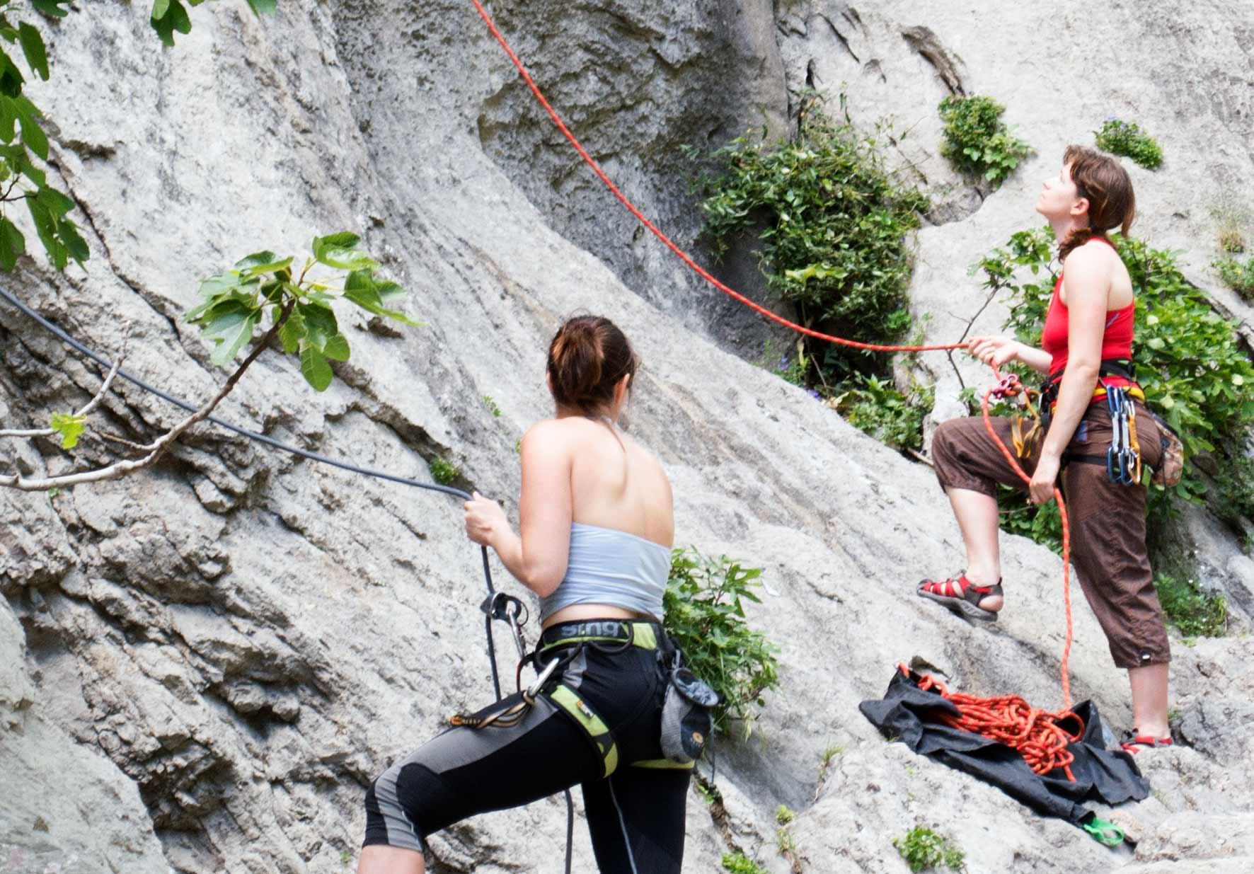 Der Fels in Kroatien eignet sich gut fürs Klettern